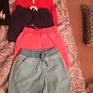 Size 4T lot of 4 pairs of shorts